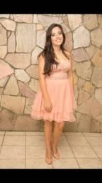 Título do anúncio: Vestido rosa M tomara que caia de festas.