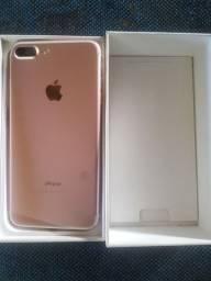 Iphone 7plus 128GB Rose,  impecável