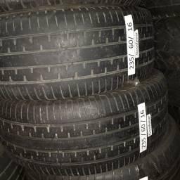 Título do anúncio: Par de pneus meia vida goodyear 235/60/16 - Tiggo, Tracker, Tucson, Asx, etc
