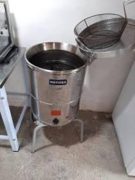 Fritador industrial elétrico metvisa 20L Novo, sem uso
