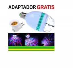 Título do anúncio: Lâmpada Led Giratória Colorida Globo De Luz Festa + Soquete