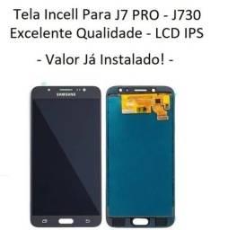 Tela / Display  Incell Para Samsung J7 PRO (J7 2017 J730) - Instalação em 30 Minutinhos!