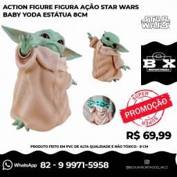 Action Figure Ação Star Wars Baby Yoda Estátua