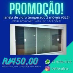 Título do anúncio: janela de correr 2 peças móveis (gl5) 8mm incolor