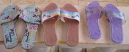 Sandálias rasteirinhas infantil