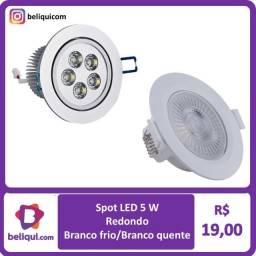 Spot Direcionável LED 5W | Redondo | Branco Frio ou Branco Quente