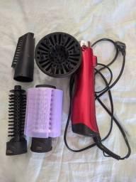 Escova Rotativa Philco Ceramic Spin Ion Brush PEC05 - Vermelho