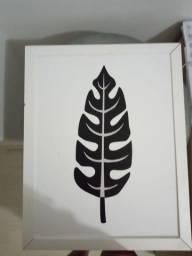 Quadro decorativo preto e branco costela de Adão