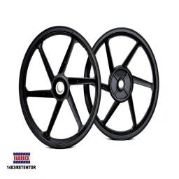 Roda Esportiva Preta (modelo Sport Mix) Titan 150 (disco) F