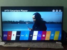Vendo TV SMART 4K LG 49 POLEGADAS semi nova