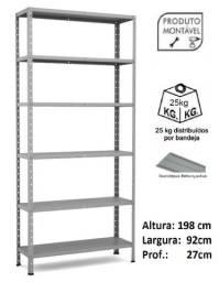 Estante de Aço c / 06 bandejas p27 ( nova ) leia o anúncio - promoção