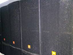 """Título do anúncio: """"Kit 04 Caixas Jbl Scp-2x15 som completo rack potencia studio r igreja banda ctg PA zerado"""