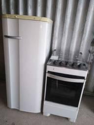 Fogão 4 bocas com geladeira