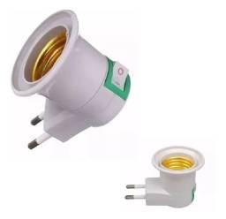 Soquete  E 27 bocal lâmpada tomada chave liga e desliga