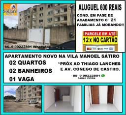 Alugo Apartamento Novo 02 Quartos, 02 Banheiros e 01 Vaga na Vila Pery