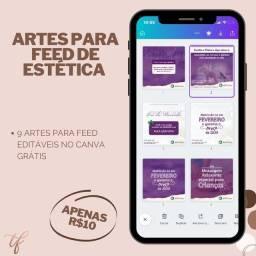 Pack de artes editáveis no CANVA Grátis a partir de R$10,00