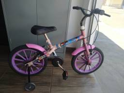 Bicicleta infantil aro 16 Moana com rodinhas