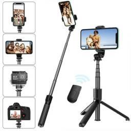 Título do anúncio: Bastão Pau Selfie Tripé Controle Bluetooth Retrátil Celular