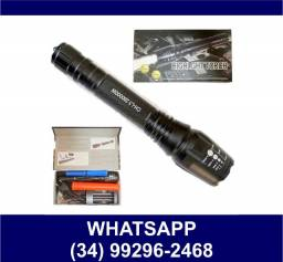 Lanterna Led Zoom 2 Baterias Recarregável * Fazemos Entregas
