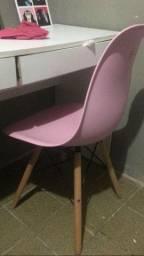 Cadeira Base Madeira Eiffel Charles Eames Wood