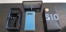Samsung Galaxy S10 Dual Chip Android '' Octa-Core 128GB Câmera Tripla Traseira 16MP - Azul