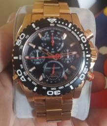 Relógio Bulova PRECISIONIST WB31792U. Na caixa, nota fiscal