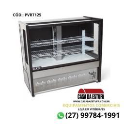 Vitrine Confeitaria 1,25m 127v PT - Platinum Polar