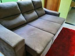 Sofá retrátil reclinável semi novo...
