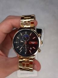 Título do anúncio: Relógio de Pulso Nibosi 2501 Lançamento Original Dourado Prata Luxo Funcional prova de Águ
