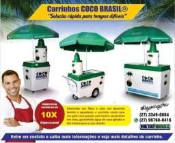 Carrinhos de água de coco (10x sem juros)