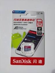 Cartão Micro SD Sandisk 128GB Original e Lacrado + Brinde !!