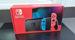 Título do anúncio: Nintendo Switch 32gb. Novo, Lacrado. Com Joy-cons Azul e Vermelho.