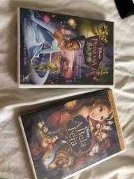 Título do anúncio: Dvds disney originais lacrados a princesa e o sapo e a bela e a fera