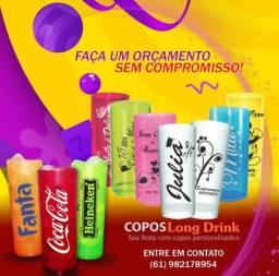 Copos long drinks e canecas personalizadas