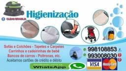 Promoção de lavagem de estofados em geral