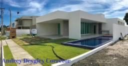 Casa Nova - 3/4 suites + area de lazer - Cond fechado - Massagueira