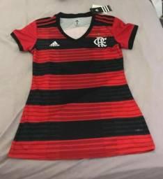 Camisa Feminina Flamengo 18/19 - Tam M