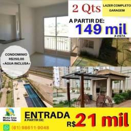 2 quartos - Reserva Taguatinga - Lazer Completo