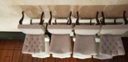 Conunto de 8 Cadeiras para sala de jantar semi novo Alto Padrão