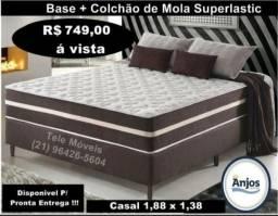 Cama Classic Casal # Pronta entrega # Com Molas Superlastic