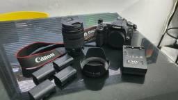 KIT Canon 80D + 18-135mm + Carregador + 4 Baterias