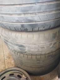 5 Calha de ferro original 5 furos, 4 com pneus meia vida