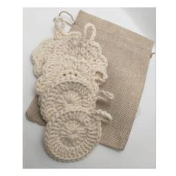 Eco pads ou discos de crochê