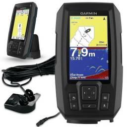 Sonar Garmin Striker Plus 4 + Transducer Tela De 4.3 C/ Gps! Novo