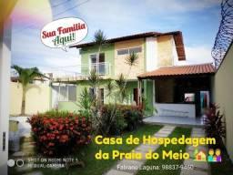 Casa de Temporada para Hospedagem Duplex Linda na Praia do Meio / Araçagy