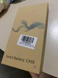 Capa carregadora para iPhone X Max 7200 mah rose