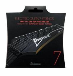 Encordoamento guitarra Ibanez 7 cordas