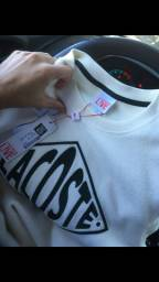 Blusa grife lacoste