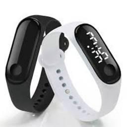 Relógio De Pulso Digital Com Led Unissex Esportivo