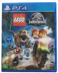 Jogo Lego Jurassic World PS4 Capa Azul Fisica Dublado Usado
